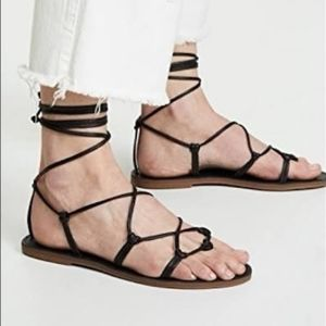 "NWOT Madewell ""The Boardwalk Lace Up Sandals"